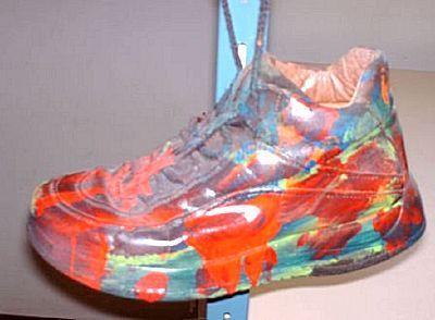 Knutselidee: Mooie schoenen maken om er iets in te doen.