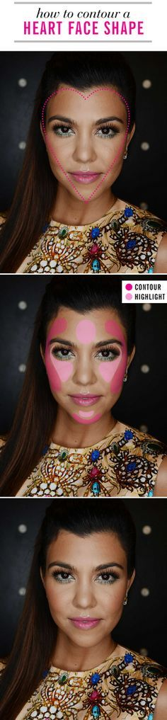 How to contour a heart shape face.