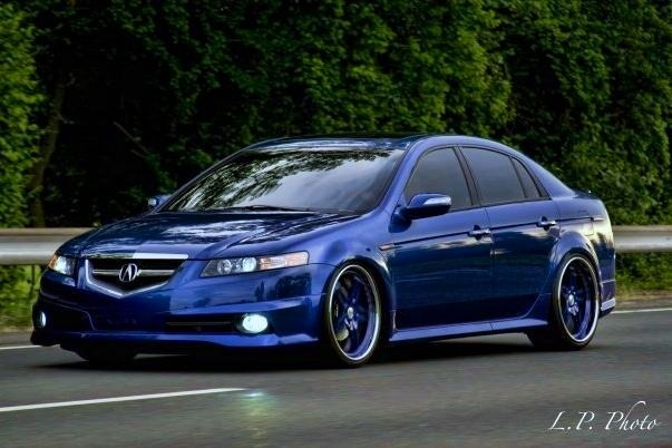 2008 Acura TL. Beautiful car! I'd love to own one of these. They ruined the look of this car with the introduction of the 2009.