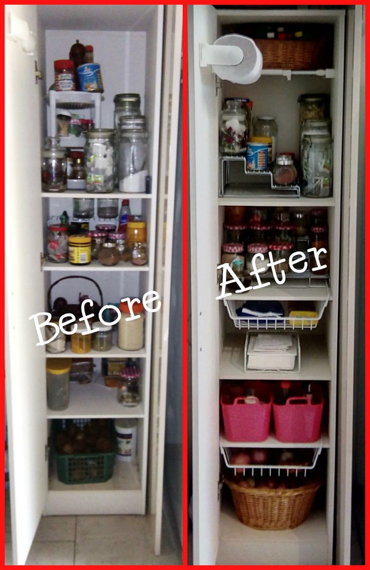 Need some pantry ideas? Check out our video. A small free standing pantry makeover with big ideas!
