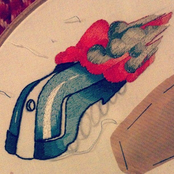 #inprogress#embroidery #train #mounshak
