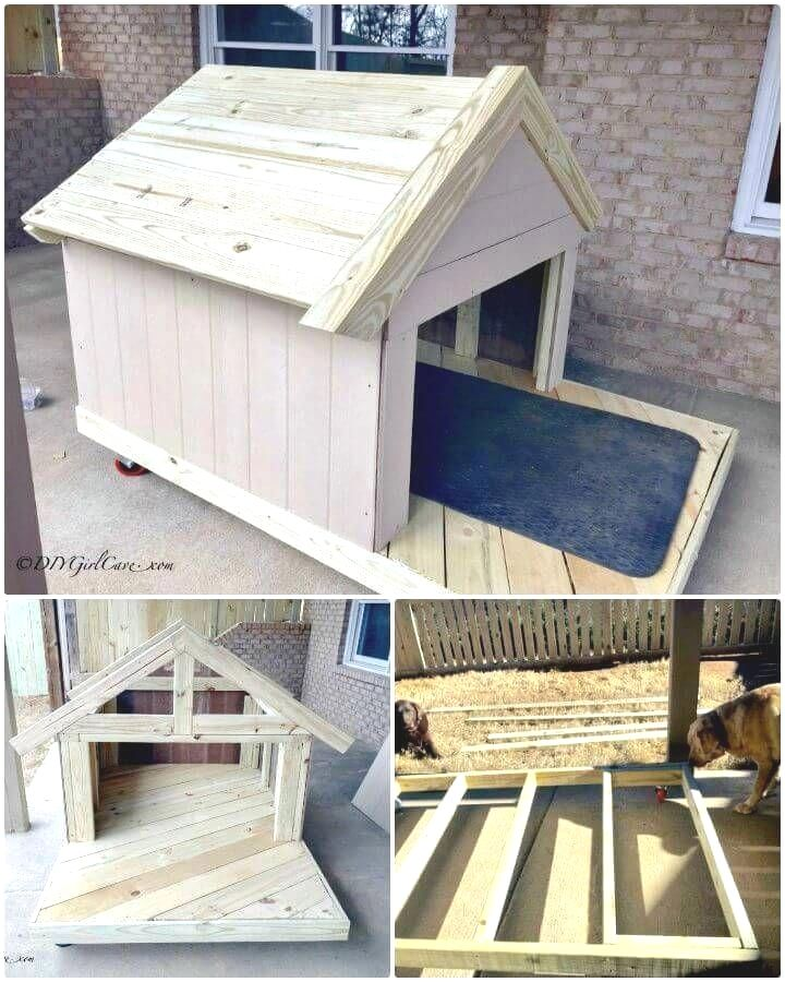 Easy And Cheap Dog Houses Doghouseideas In 2020 Diy Dog Stuff