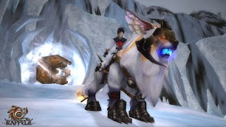 Riding pet in dungeon in Rappelz the fantasy MMORPG