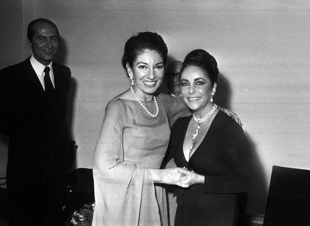 Elizabeth Taylor & Maria Callas