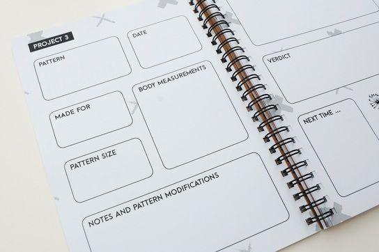 Maker's Workbook: Record each of your makes step by step (there's even room for a swatch!!)