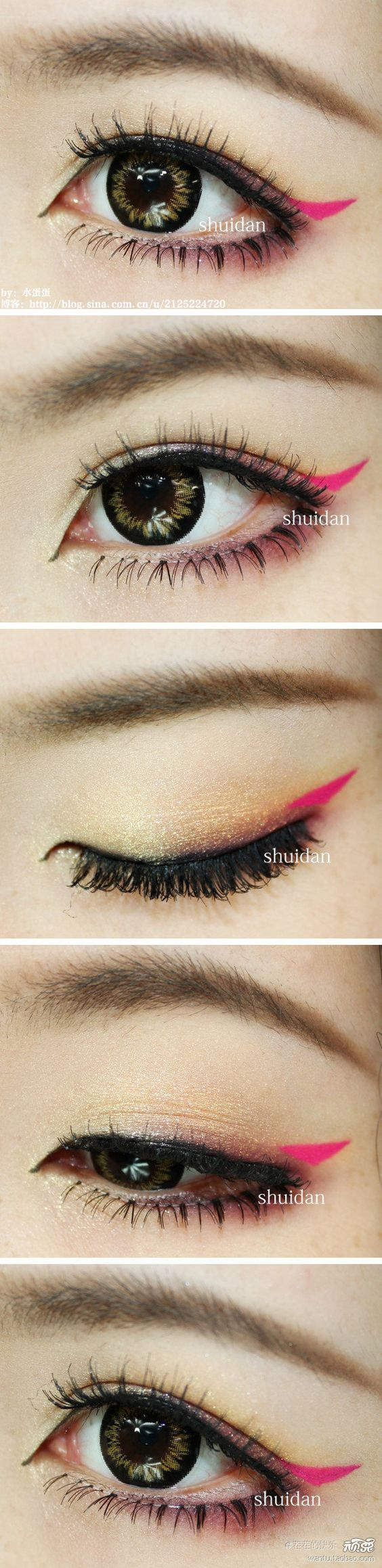 Korean ulzzang makeup tutorial featuring NEO Celeb Brown circle contacts - http://www.eyecandys.com/neo-celeb-brown/: