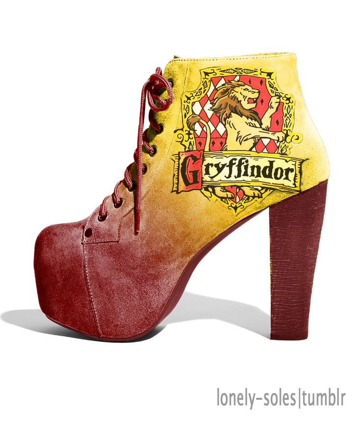 Harry Potter - Gryffindor shoes! <3