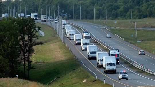 A Russian Convoy Carrying Aid to Ukraine Is Dogged by Suspicion - NYTimes.com