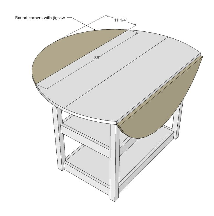 ana white build a drop leaf round storage table free