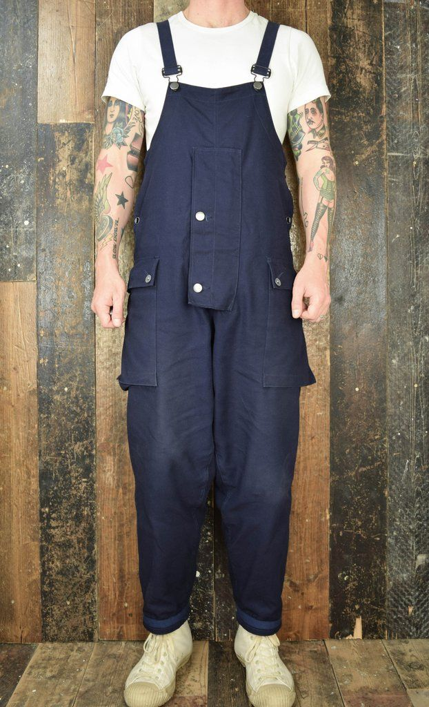 NIGEL CABOURN LYBRO NAVAL DUNGAREE OVERALLS - BLACK NAVY – Pickings and Parry