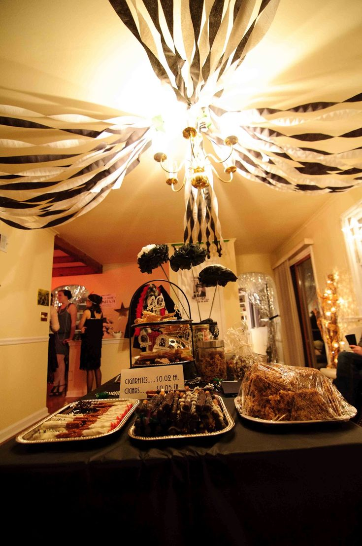 52 best theme 3 great gatsby bridal shower 1920s for Home alone theme decorations