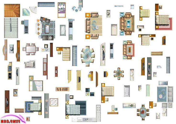 furniture plan view  Google Search  prefere  Maison moderne Mobilier Photoshop