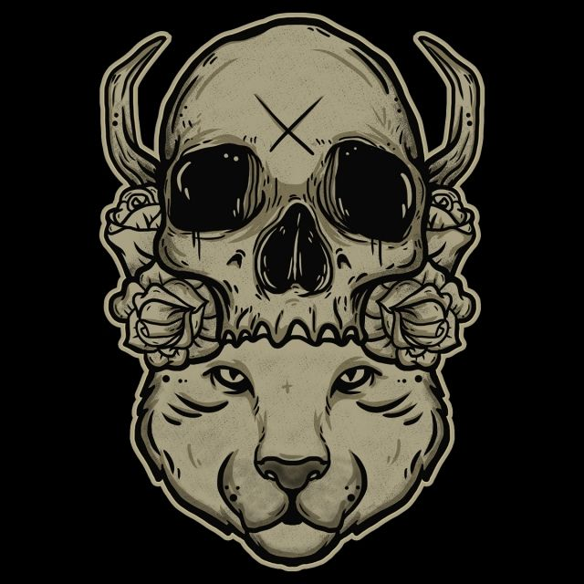 تصوير بسبب رأس الحيوان أيضا الجمجمة فن جمجمة المثال التوضيحي Png وملف Psd للتحميل مجانا Animal Heads Skull Art