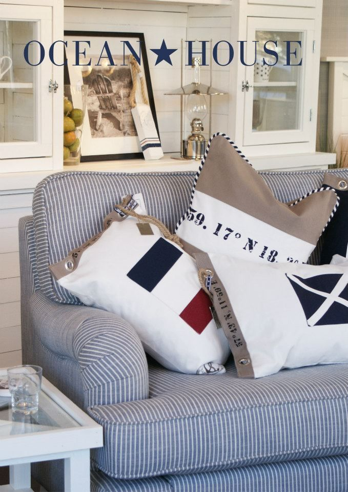 Create your home with Nautical designs. Create nice accent pillows to dress up the room. Use some grommets and fabric from Sailrite.