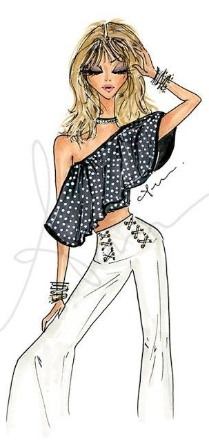 anum tariq fashion illustration
