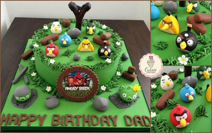 Cutsie Cupcakes - Angry Birds Cake