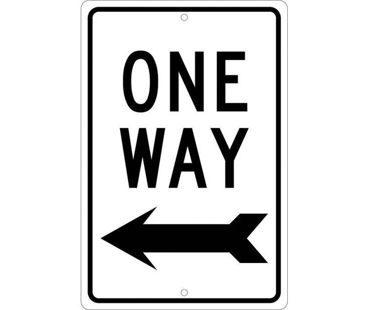 ONE WAY (WITH LEFT ARROW), 18X12, .040 Aluminum