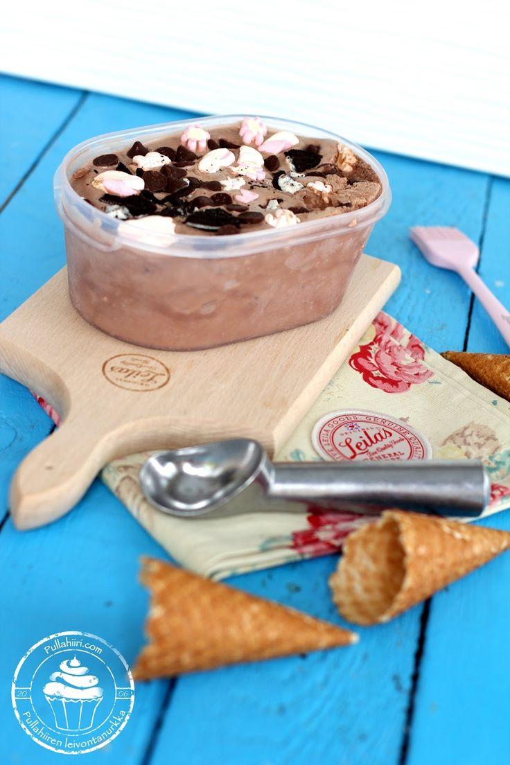 Pullahiiren leivontanurkka: Itse tehty Rocky road-jäätelö ja neuvot jäätelön valmistukseen