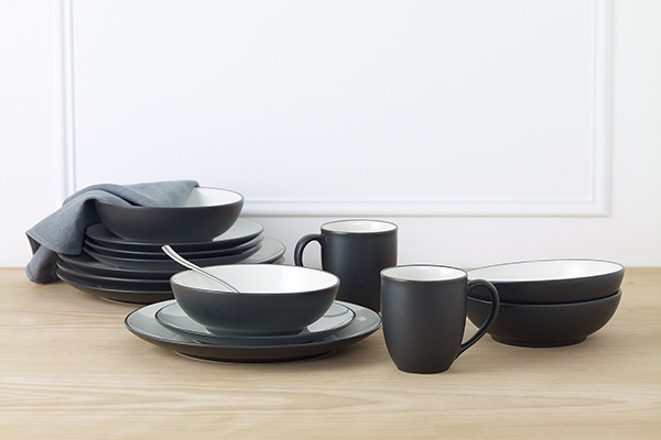 dinner sets place settings dinners graphite tableware places australia