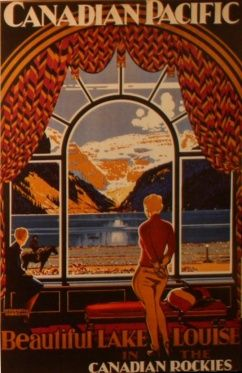 Art Deco Poster: CP Rail - Lake Lousie, AB