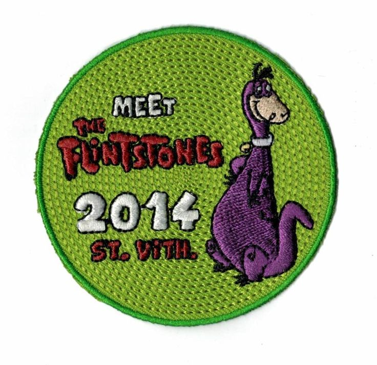 Look at this patch design! Is your camp theme 'the flinstones'? It's a must have! Upload your own design on ibadge.com. Free shipment!