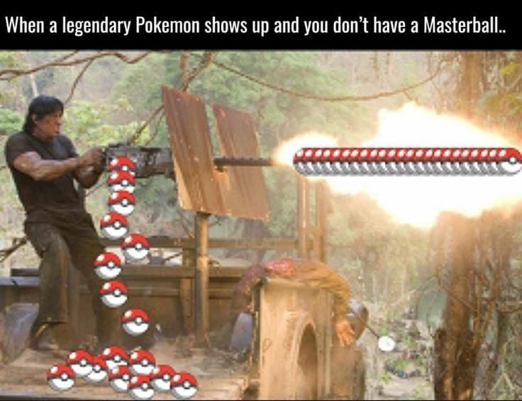 When a legendary Pokemon shows up
