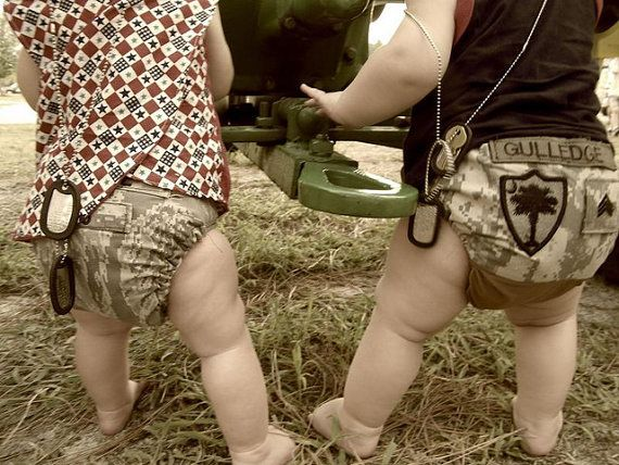 Military diaper cover. HOW CUTE!