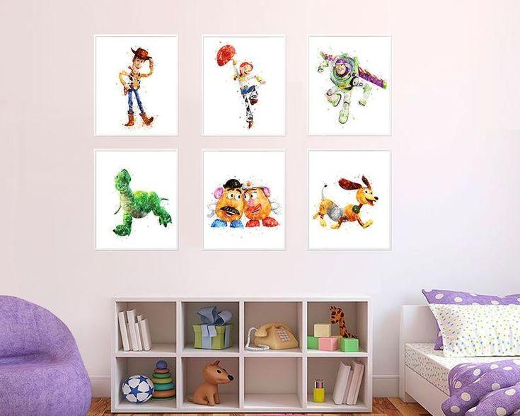 Toy Story Art Print Woody Jessie Buzz illustration Slinky ...