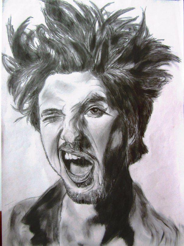 Рисунки карандашом, люди, черно белый, графика, лицо, портрет Бен Барнс