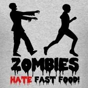 Zombies Hate Fast Food Cross Country Shirt