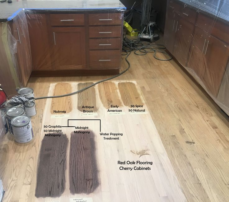 Red Oak Flooring Stain Options With Cherry Cabinets