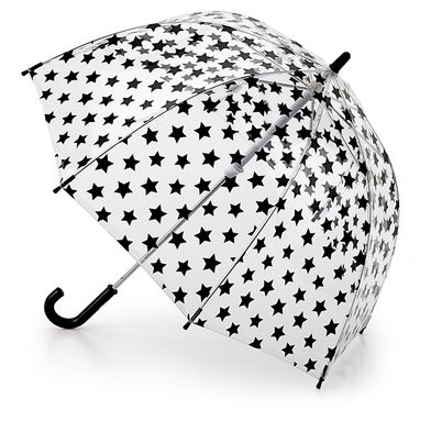 Paraguas transparente Fulton para niños con diseño de estrellas. No se mojarán y se divertirán.  Imagina que está lloviendo a mares y que tus hijos necesitan un paraguas para no mojarse. ¿Crees que ...
