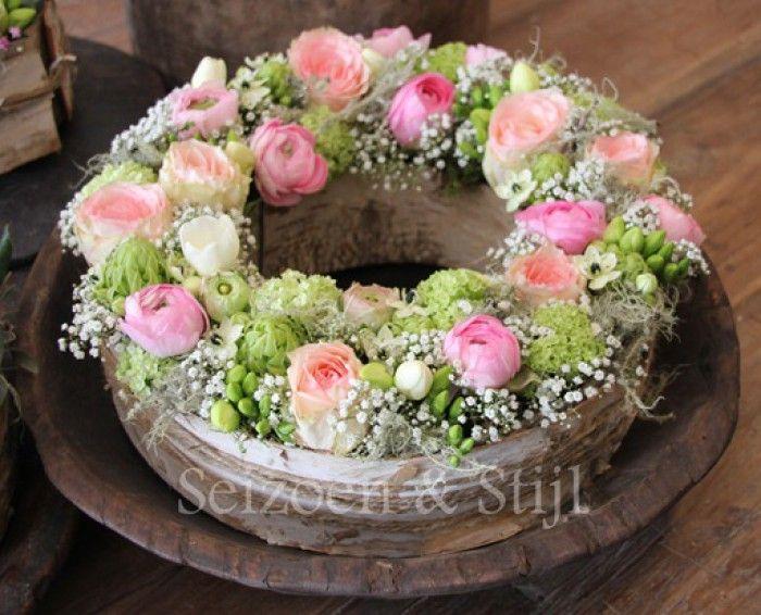 Mooie bloemen taart