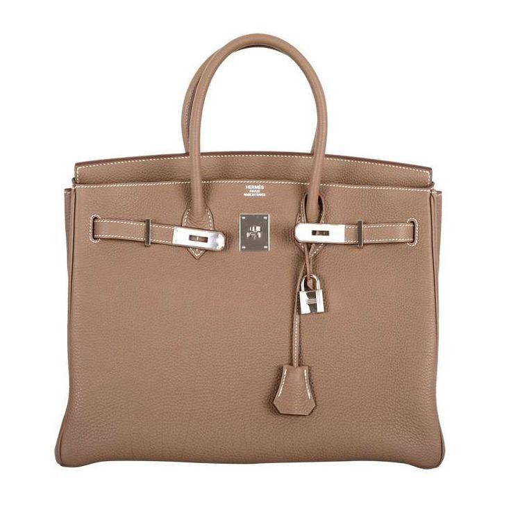 Hermes Birkin Bag Etoupe 35CM Togo Palladium JaneFinds 1