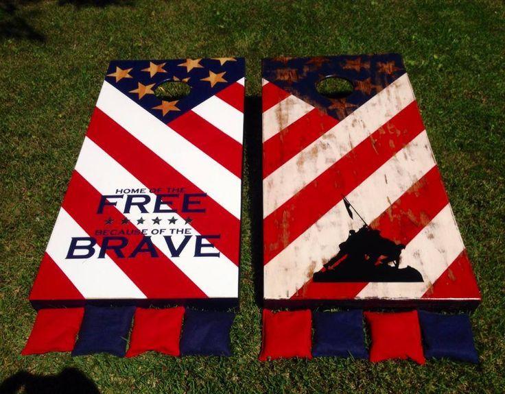Patriotic Cornhole Boards American Flag Boards Cornhole Cornhole Boards Cornhole Designs Diy Cornhole Boards