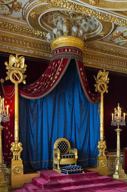 Napoleon's Throne at Chateau de Fontainebleau | France