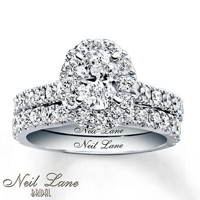 Neil Lane Bridal Set 1 7/8 ct tw Diamonds 14K White Gold This.
