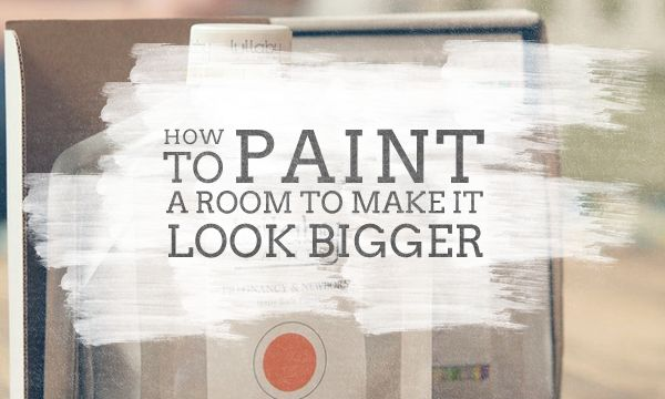 How To Paint Room Make Look Bigger Painting Ideas