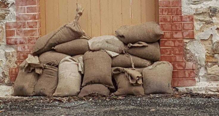 Sandbags at the ready