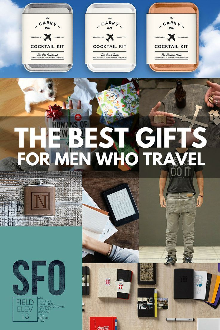 The ultimate holiday gift guide for men! From leather dopp kits to monogrammed flasks to bespoke money bands, these are the best travel gifts for men who travel.
