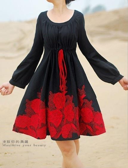algo similiar sobre vestido completamente negro