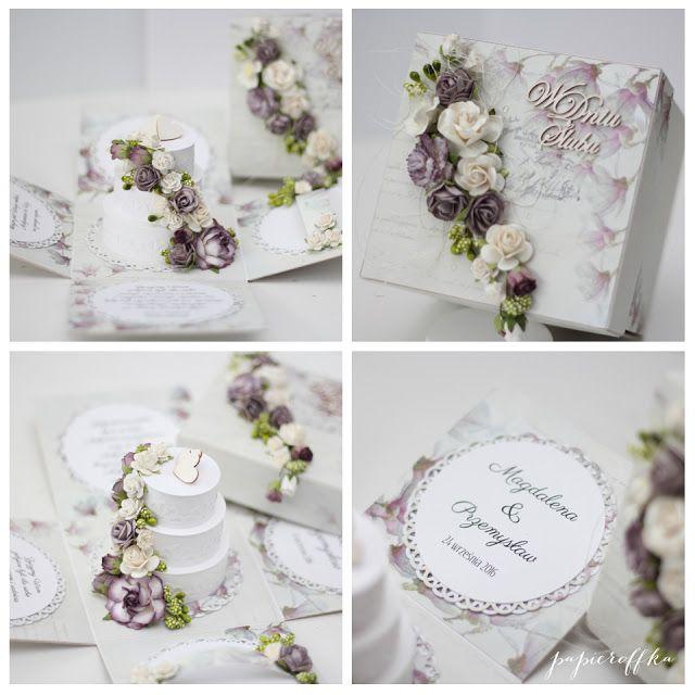 papieroffka, exploding box z tortem na ślub