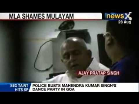 An SP MLA from Sitapur, Mahendra Kumar Singh has shamed his party by landing in a Goa jail .  MLA was caught partying with women trafficked from Delhi in a Hotel on Candolim beach by the Goa Police.  Singh was arrested along with his close aide ajay pratap singh and 4 others after Police busted their terrace party and found six women performing to loud music and creating an ambience of a dance bar in Goa.