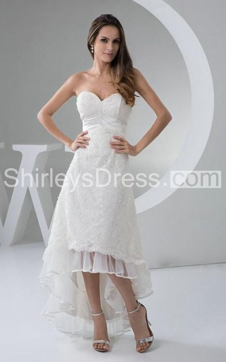 31 best images about wedding dresses on pinterest lace for High low sweetheart wedding dress