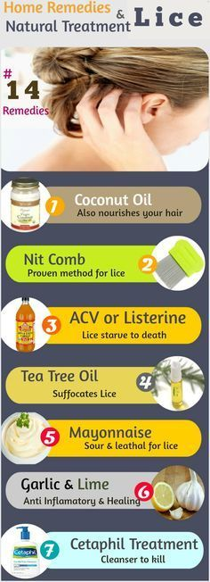 Lice Home Remedies and Natural Treatment: 1.Salt Water 2.Coconut Oil 3.Nit Comb 4.Mayonnise 5.Tea Tree Oil 6.Apple Cider Vinegar 7.Olive Oil 8.Listerine 9.Cetaphil Treatment. Baby oil 11.Olive Oil 12.Best Shampoo 13.Garlic and Lime...