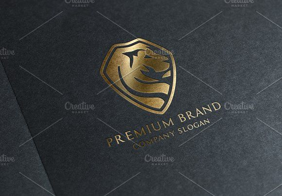 Premium Lion Logo & Mock-Up - Vector by Multiple on @creativemarket