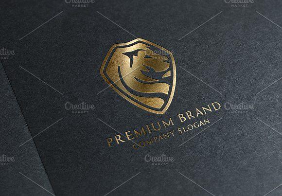 Premium Lion Logo & Mock-Up - Vector by Multiple on @creativemarket
