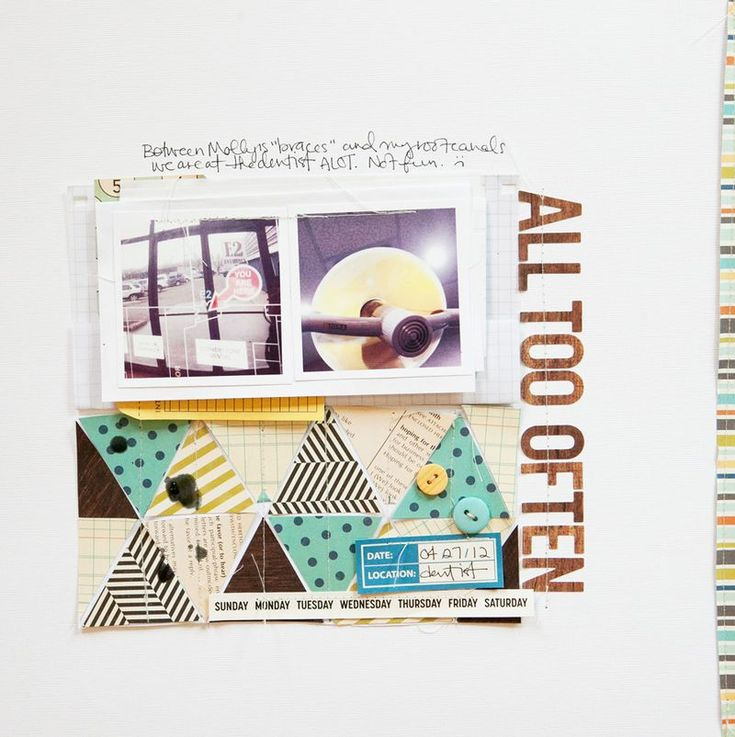 ... triangle patternScrapbook Triangles,  Internet Site, Scrapbook Inspiration, Triangles Pattern,  Website, Web Site, Pattern Alltoooften, Scrapbook Layout, Marcy Penner