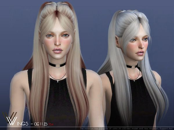 Wow Love This New Hair Created By Wingssims Sims Hair Sims 4 Sims
