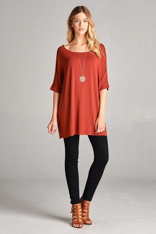 Teacher Outfit Ideas Long Rust Colored Short Sleeve